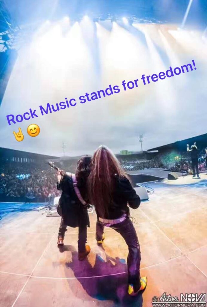 Rock Music stands for freedom!!