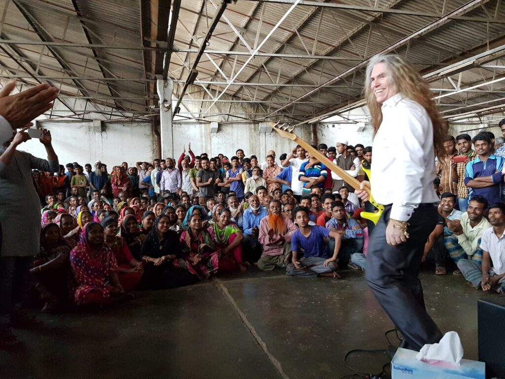 Wonderful experience with a Concert in a Factory in Bangladesh